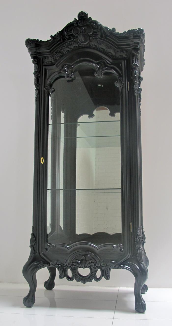 Gorgeous Black Louis XVI Display Case