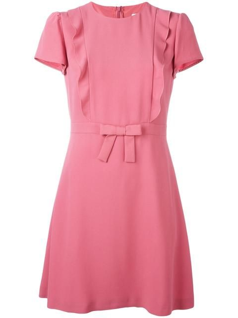 Shop Red Valentino bow detail flared dress.