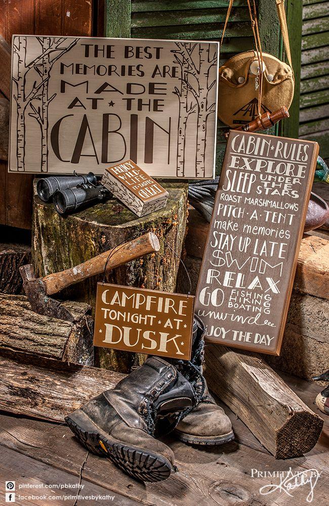 Cabin and Lake Decor. Box Signs