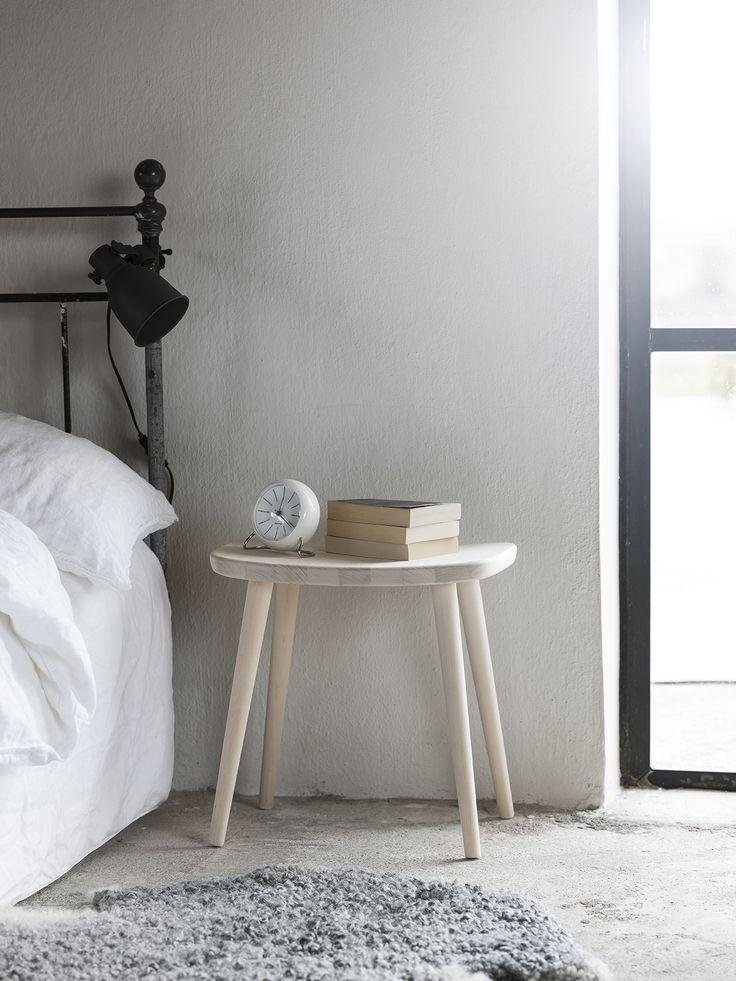 Palle stool. Solid birch. Made by Stolab, Smålandsstenar, Sweden. Design: Yngve Ekström
