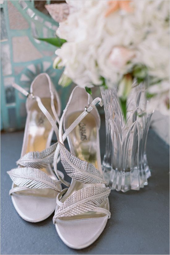 #silver #weddingshoes @weddingchicks