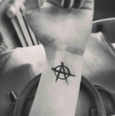 Anarchy tattoo.... so want something like this and this symbol is going to be my very first tattoo! Think I made a good choice?