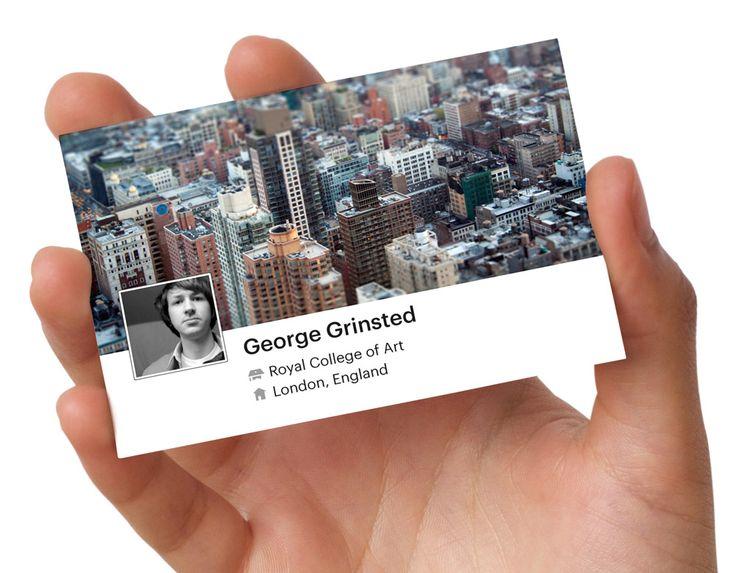 Cartão de visita facebook