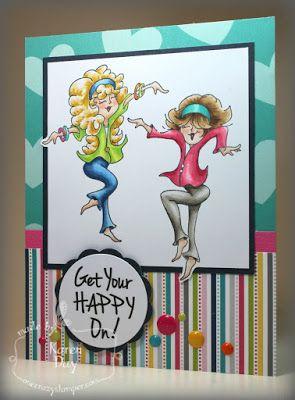 ONECRAZYSTAMPER.COM: April Challenge card by Karen using High Hopes Stamps New…