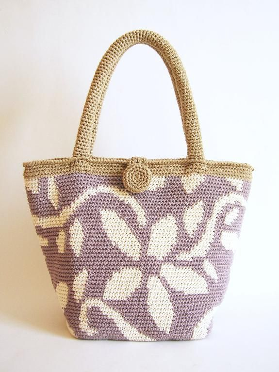 Looking for your next project? You're going to love Crochet pattern for flower tote by designer ChabeGS.