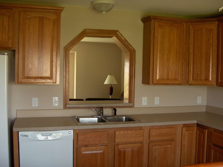 Kitchen with pass through window different from a simple square or rectangle kitchen reno for Pass through kitchen ideas