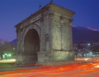 Augustus Arch in Aosta    http://aosta-valley.co.uk/aosta-town.htm