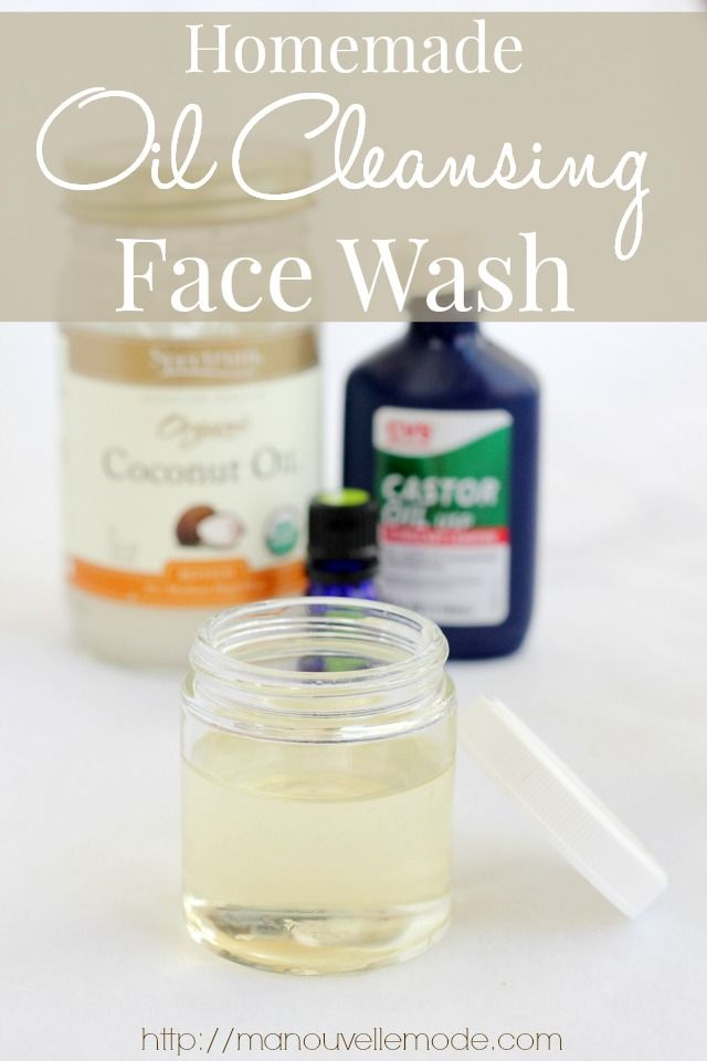 Homemade Oil Cleansing Method Face Wash