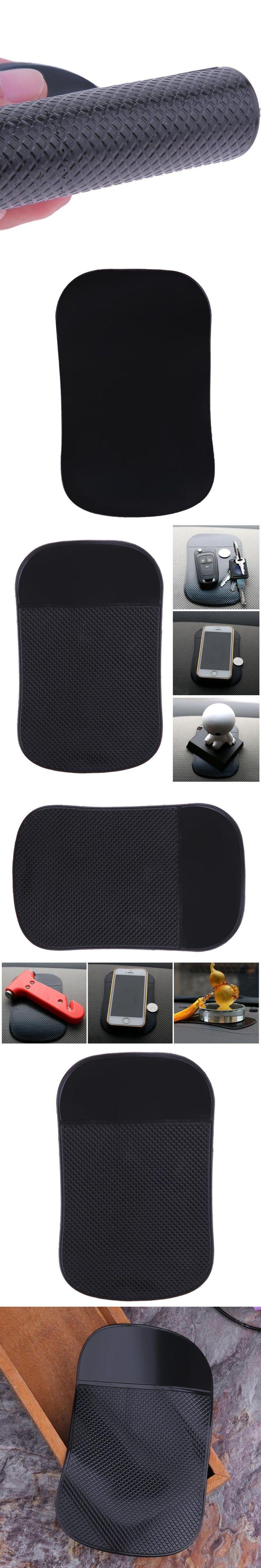Car Interior Dashboard Mount Thick Anti Skid Mat Pad Sticker Black PU Non Slip Dash Mat Sticker for Phone Hot Sale
