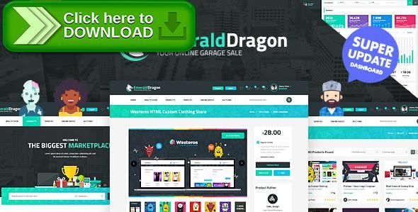 [ThemeForest]Free nulled download Emerald Dragon Online Marketplace HTML Multipurpose Template V2.0 from http://zippyfile.download/f.php?id=10354 Tags: auction, blog, cart, clean, dashboard, ecommerce, forum, gamification, marketplace, modern, online, product, shop, shopping, theme