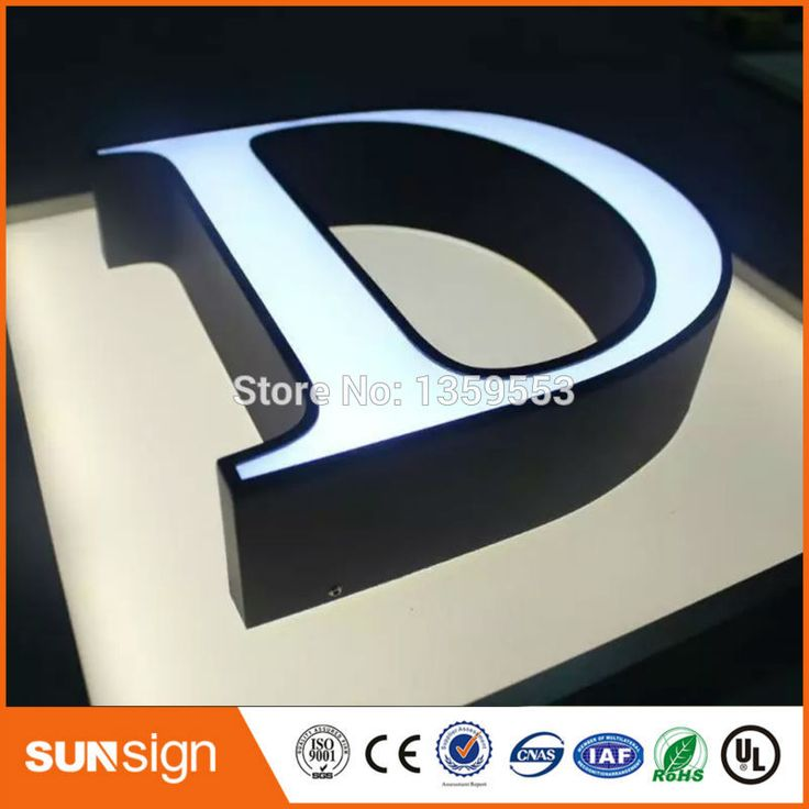 Awesome led illuminated metal letter signs type LED channel letter signs