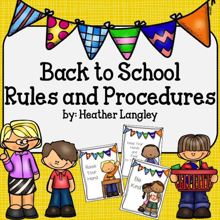 Rules Procedures: Back To School Rules And Procedures