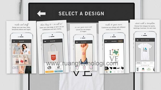 Desain Kaos Dimana dan Kapan Saja Dengan Aplikasi Makr Untuk iPhone