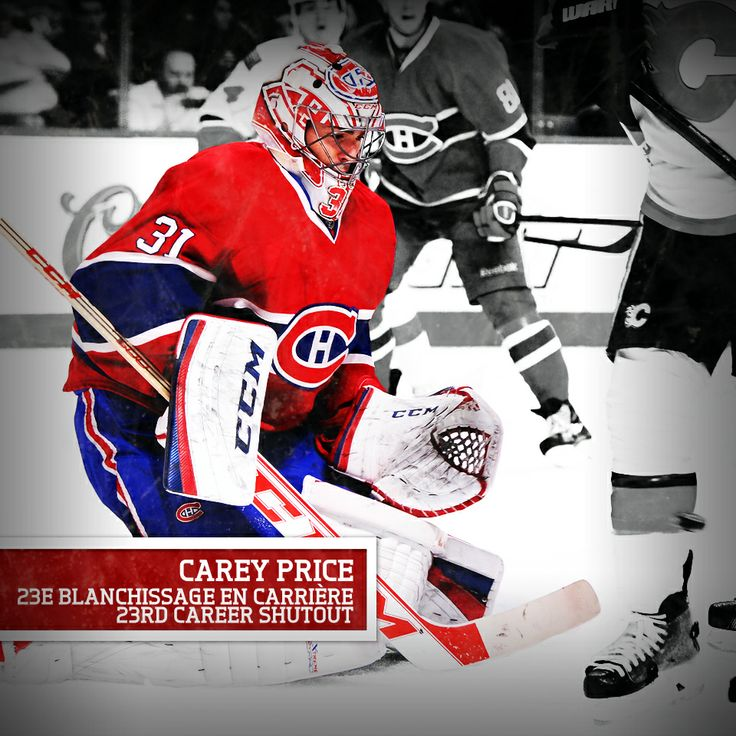 Félicitations à Carey Price pour son 23e blanchissage en carrière! / Congratulations to Carey Price on the 23rd shutout of his career!