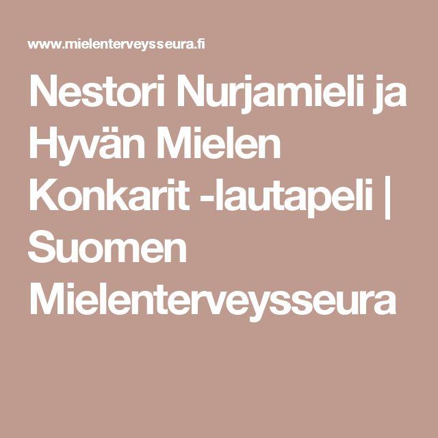Nestori Nurjamieli ja Hyvän Mielen Konkarit -lautapeli   Suomen Mielenterveysseura