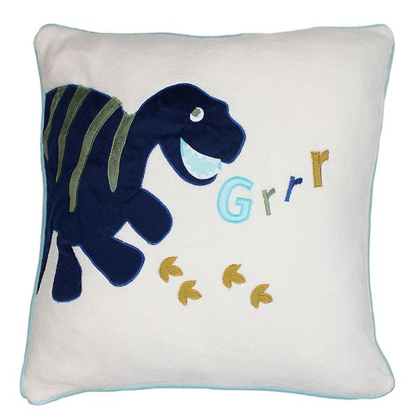 Dinosaur Square Cushion Make your bedroom come to life with this Dino Cushion. Lots of fun and games to be had with this cushion. Extremely soft cushion that will be a great support while reading those amazing stories. It is manufactured from 100% Polyester Microfibre and a 100% Polyester Filling. Will complete the look of the bedroom. Order yours today! Price: £10.99
