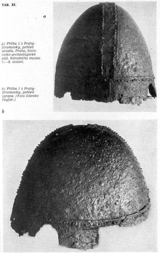 Elmo (bandhelm?) da Praga, VII sec. / Helmet (bandhelm?) from Prague, 7th century