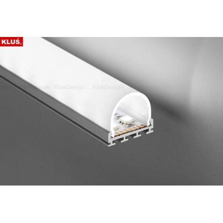 Profil LED GIP G-L natynkowy, aluminium anodowane