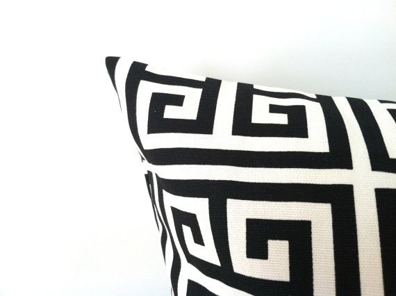 Stylish & modern black and white! Black and White Euro Pillow Cover  24 x 24 One by PillowStyles, $22.00