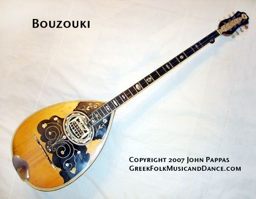 "The body of instruments in the bouzouki family are often made of separate staves (called ""douyies"" in Greek)."