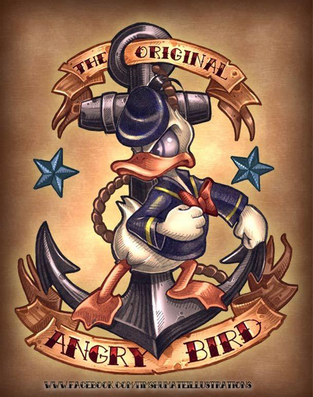 Donald Duck, der echte Angry Bird on http://www.drlima.net
