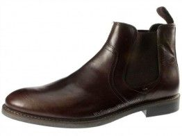 Red Tape Newton Brown Slip On Chelsea, Ankle Boots Round Toe Pull Mens Leather - £26.99