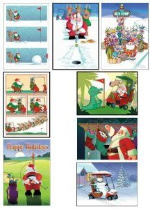 Golf Christmas Card Variety Pack 24 cards/ 26 envelopes by Kersten Cards. $12.99. Size: 5x7 paper greeting cards. Quantity: 24 cards/ 26 envelopes. Golfing theme assortment of Christmas cards.