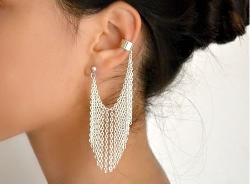 cuff, ear, ear cuff, earring - inspiring picture on Favim.com: