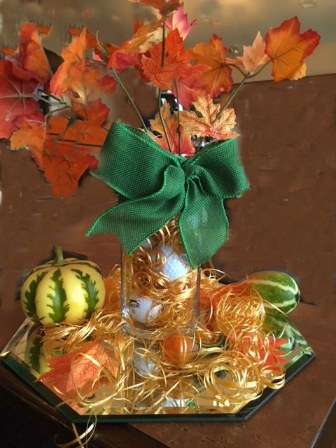 Nice fall golf centerpiece