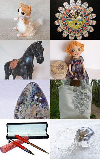 My kitten was added to The Amazing World of Etsy by barbara estock on Etsy
