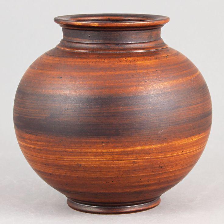 Gunnar Nylund (1930s) Spherical Art Deco Vase