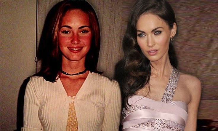 Childhood snaps show Megan Fox aged 12 wearing braces... and combing eyebrows with a toothbrush