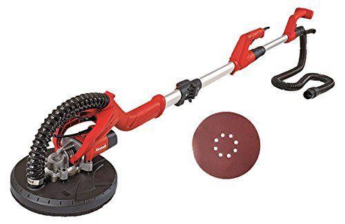 Einhell TC-DW 225 4259930 Ponceuse à sec avec système de fixation Velcro et manche télescopique + coffret de 6disques abrasifs Diamètre…