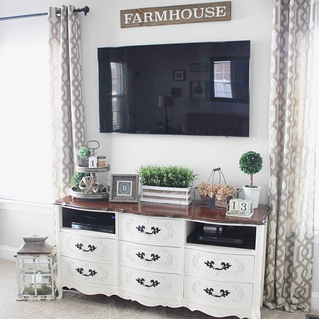 The Images Collection Of Modern Farmhouse Tour Interior: Best 25+ Tv Console Decorating Ideas On Pinterest
