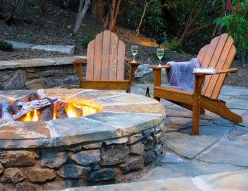 39 best images about fire pits on pinterest outdoor for Fire pit ideas outdoor living