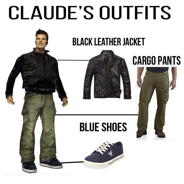 Famous Claude From GTA III Looks Brutal #gta3 #claude