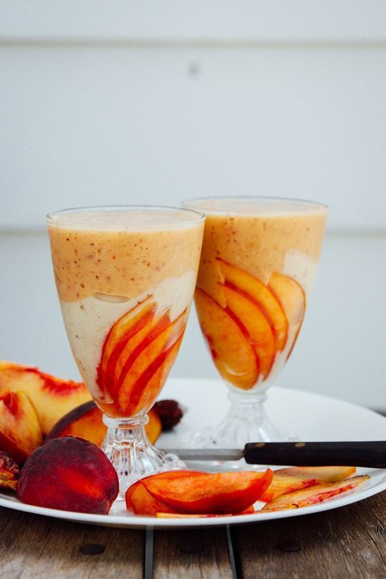 Peaches 'N' Nice Cream Smoothie // This Rawesome Vegan Life