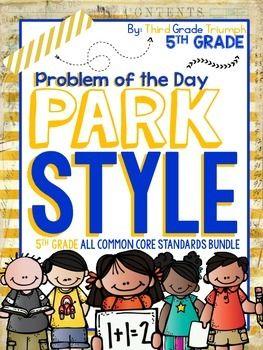 PARCC Math 5th Grade Bundle Pack by Third Grade Triumph | TpT