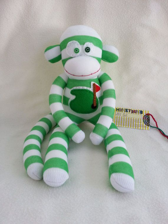 Golf Sock Monkey by MunkybunsSockToys on Etsy   33 00. 60 best golf theme nursery images on Pinterest   Golf theme  Boy