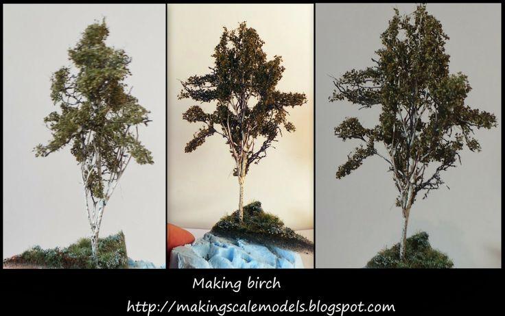 How to make birch #diorama #scalemodel #birch #how to
