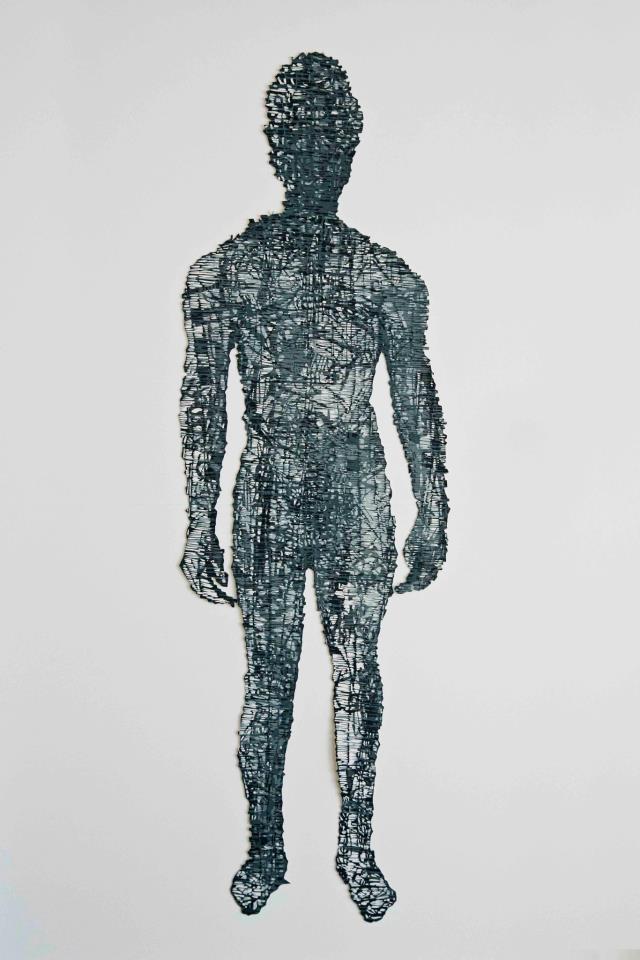 Origins :Regenerated III  2012  Hand cut, relief monoprint  136 x 189 cm