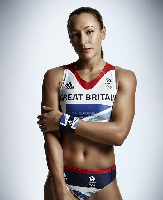 Jessica Ennis (b. 1986) is an English track and field athlete specialising in multi-eventing disciplines and 100 metres hurdles. She is the current Olympic heptathlon champion.