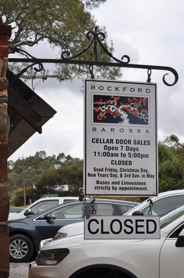 Rockford Winery Barossa Valley - the best we've had in a long time...highly recommended