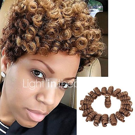 Bouncy Curl kenzie curls kanekalon crochet braids 10inch Braiding Curls 20strands/pack Kinky Twisted Freetress synthetic curly Braiding hair extension 2017 - $6.99