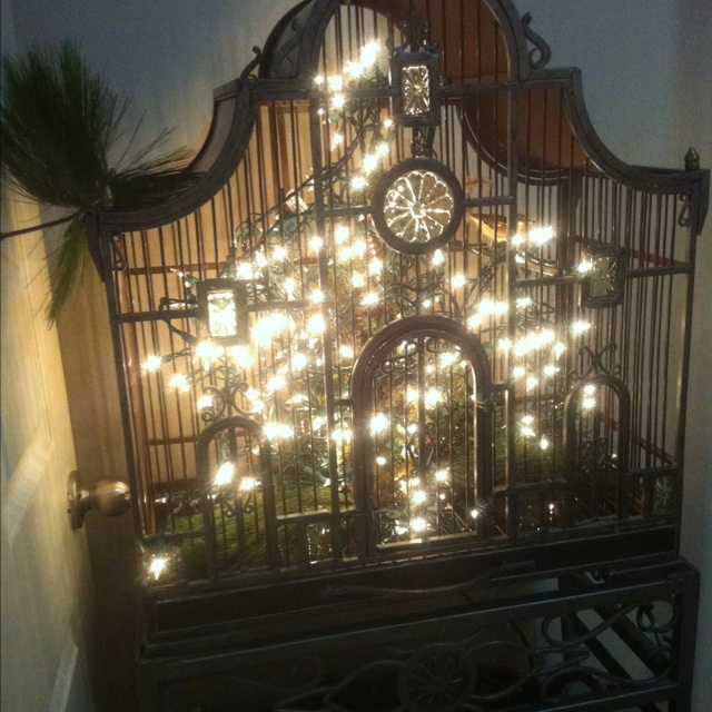 Cage String Lights Kmart : I have this exact cage for my bird. He probably would not like the string of lights in his home ...