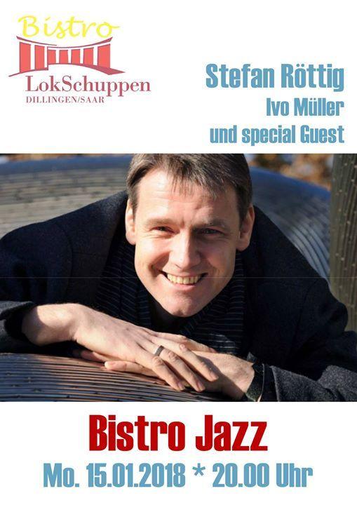 #Bistro #Musik #goes #Jazz   Ivo #Mueller #laedt #sich Gaeste einBistro #Jazz #im #Bistro #Lok... #Bistro #Musik #goes #Jazz - Ivo #Mueller #laedt #sich Gaeste einBistro #Jazz #im #Bistro #Lokschuppen #Dillingen #Montag, 15. #Januar 2018, 20.00 #Uhr Ivo #Mueller (Gesang #und Gitarre) #laedt Gaeste ein: #Stefan Roettig (Gesang) sowie UEberraschungs Gaeste  Jazz-Evergreens #mit #einem #Touch #Klassik #Viele #Hits #aus #der Bluetezeit #des Musicals #Mitte #des #vergangenen Jahrh