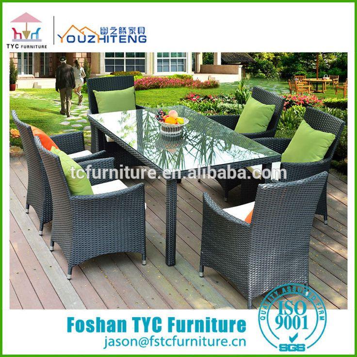 2015 nuevos muebles de ratán mesa de comedor silla de plástico mueblesdecomedor