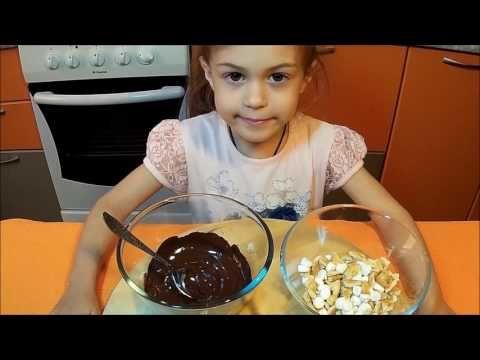 Печенье в шоколаде с маршмеллой