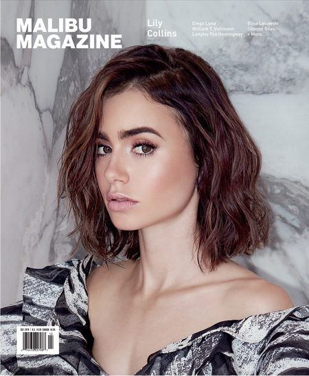 Lily Collins on Malibu Magazine Vol. 14 Issue 06 Cover