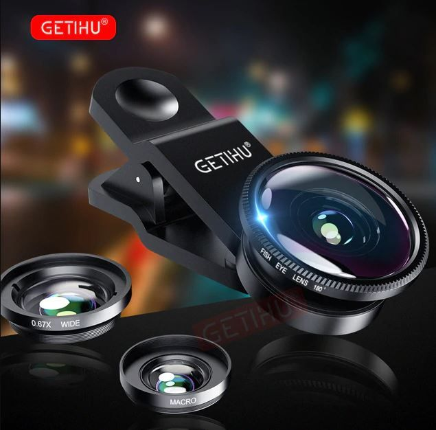 Universal Fisheye Mobile Phone Lens 3 Pcs Phone Lens Fish Eye Lens Smartphone Accessories